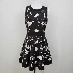 Banana Republic Floral Fit and Flare Dress Women 8